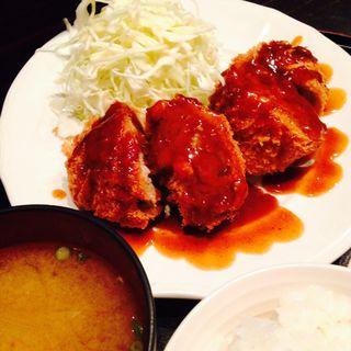 メンチカツ定食(ライスライス)