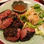 豚挽肉の大葉包み焼き