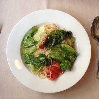 ずわいがにとレタスのフレッシュトマトスパゲティーニ(Casa Vecchia)