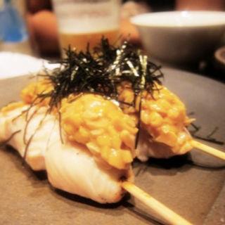 ささみ焼き(納豆)(炭火串焼 ふく)