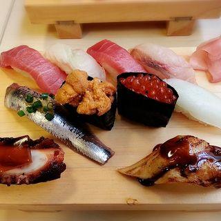 那珂湊地魚にぎり(海鮮すし 海花亭 (かいせんすし かいかてい))