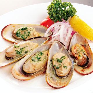 パーナ貝のガーリックバター焼き(シーフードレストラン メヒコ 東京ベイ有明店 (seafoods restaurant MEXICO))