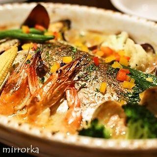 豆乳と季節野菜たっぷりの鮮魚のオーブン焼き(ベリーベリー (BerryBerry))