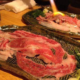 名物!!さしとろ(加藤商店 バル肉寿司 since2010 by 炉とマタギ (バルニクスシ))