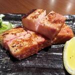 福井ポークの厚切りベーコン炙り
