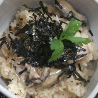 牡蠣めし(焼きがきの はやし)