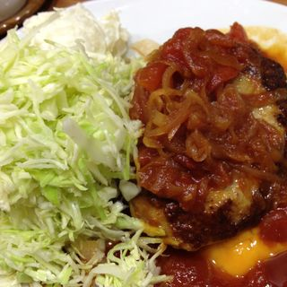トマトソースとチーズのハンバーグ(キッチン たか )