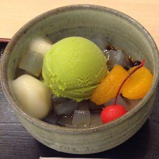 抹茶クリームみつ豆(ちもと サン広場店)