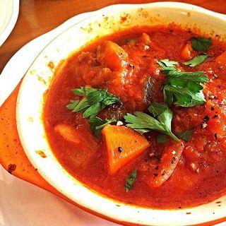 グリルチキンと野菜の煮込みランチ(Per Tossini)