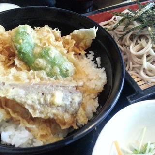 天丼とざるランチ(朝日屋)