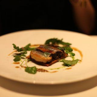 徳島産肉厚椎茸をタルト仕立てに ラルドの薄いベールで覆って(レストラン リューズ (Restaurant Ryuzu))