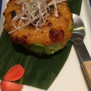 アボカドの鶏味噌焼き(ひだまり農園)
