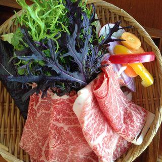鎌倉野菜と葉山和牛のしゃぶしゃぶ(海菜寺)