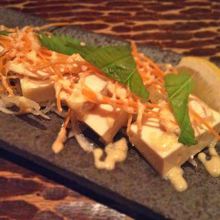 蒸し鶏と豆腐の明太マヨ(ももたろう 本店 )