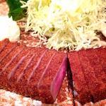 牛ロースカツ麦飯セット(牛かつ もと村 渋谷店 )
