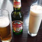 キングフィッシャービールとスパイシーソルトラッシー