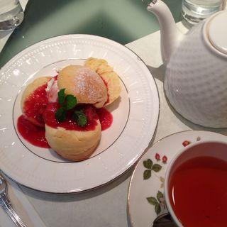 スコーンショートケーキ+紅茶(ウエッジウッド ザ ハウス オブ ティー)
