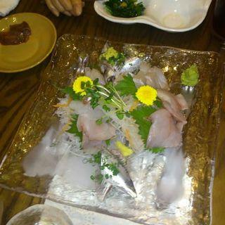 鮮魚のカルパッチョ(鉄板居酒屋白うさぎ)