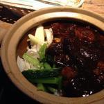 牛筋と冬瓜の土鍋御飯