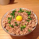 そぼろ丼(鶏ポタ ラーメン THANK (サンク))
