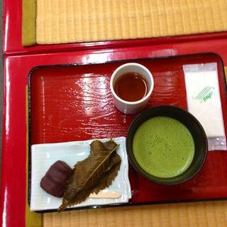 御抹茶付饅頭セット (琴きき茶屋 (ことききちゃや))