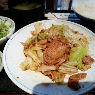 豚肉とキャベツの辛味噌炒め定食(ほの字恵比寿店)