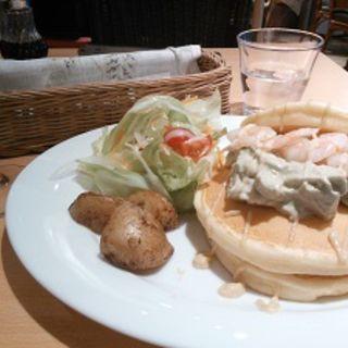 アボカドシュリンプパンケーキ(OHANA CAFE)