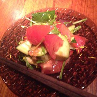 水ナスとトマトのサラダ(えんむすび)