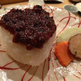 肉味噌焼きおにぎり(東日流旬彩しみず)