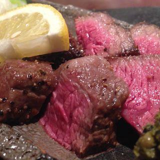 仙台牛もも肉の炙り(東日流旬彩しみず)
