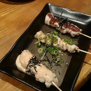 ささみ三色焼き(とり料理・居酒屋ふぁみりー)