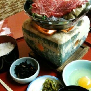 すき焼き定食(萬代)