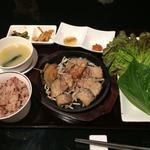 天草豚のサムギョプサル定食
