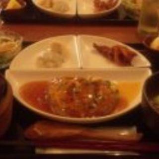 黒ゴマ坦々麺セット(水晶)