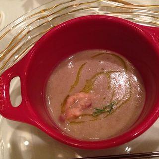 うずら豆と蛸 ハーブのスープ(convivio)