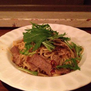 豚肉と水菜のパスタ(Cafe FLOW 名古屋)