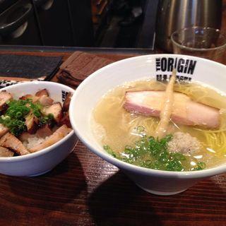 塩らあめん+焼豚丼(らあめん 元 (HAJIME))