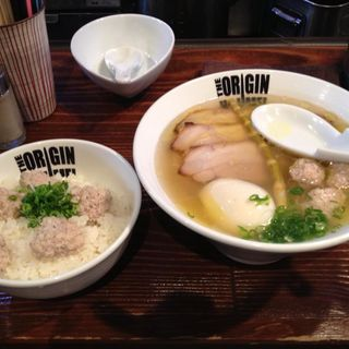 特塩らあめん+つみれ丼(らあめん 元 (HAJIME))