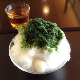 抹茶氷(小サイズ・白玉トッピング)(虎屋茶寮京都一条店)