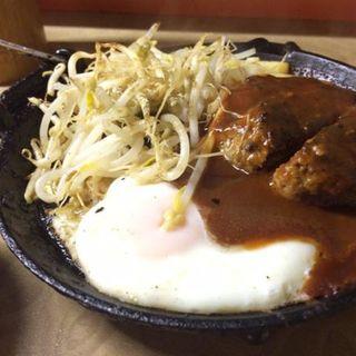 ハンバーグ定食(多津田食堂)