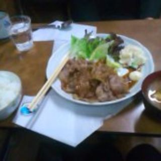 生姜焼き定食(大島コーヒー店)