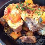 糸島豚と旬野菜のトマトソース