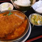 鉄板カツのチゲ煮込みとご飯(ランチ限定)