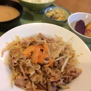 豚キムチ定食(食事処若松 )