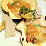 三陸産 殻付き帆立のバター醤油焼き