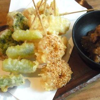 串天ぷら五種盛り合わせ(うどん山長)