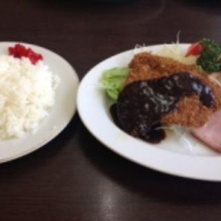ビフカツ、焼き豚定食(グリルABC)
