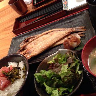 焼き魚定食(博多もつ鍋 やまや 大阪北浜店)