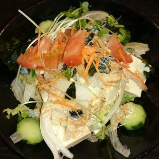 豆腐サラダ(ぼんぞう)