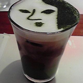 よーじや製抹茶カプチーノアイス(よーじやカフェ 三条店)